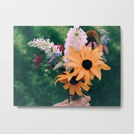Fall Flowers Metal Print