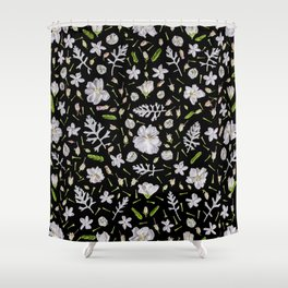 Leaves and flowers (10) Shower Curtain