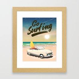 Go Surfing! Framed Art Print