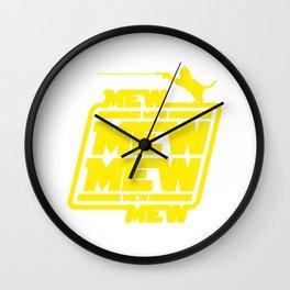 Cat Mew Mew Mew Wall Clock