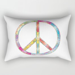 flourish decorative peace sign Rectangular Pillow