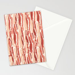 Bacon pattern Stationery Cards