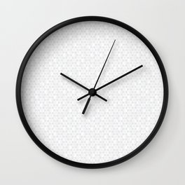 Modern Minimal Hexagon Pattern in Silver Gray and White Wall Clock