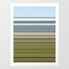 Sky Water Beach Grass Art Print