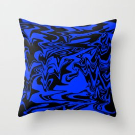 blue and shadow Throw Pillow