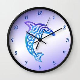 Tribal Dolphin Wall Clock