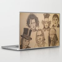 johnny depp Laptop & iPad Skins featuring Johnny Depp by Virginieferreux