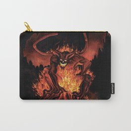 Fiery Monster on Volcano Carry-All Pouch