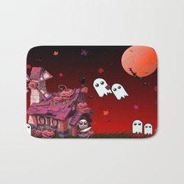Halloween Pumpkin House Bath Mat