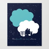 fault in our stars Canvas Prints featuring The Fault In Our Stars by laurenschroer