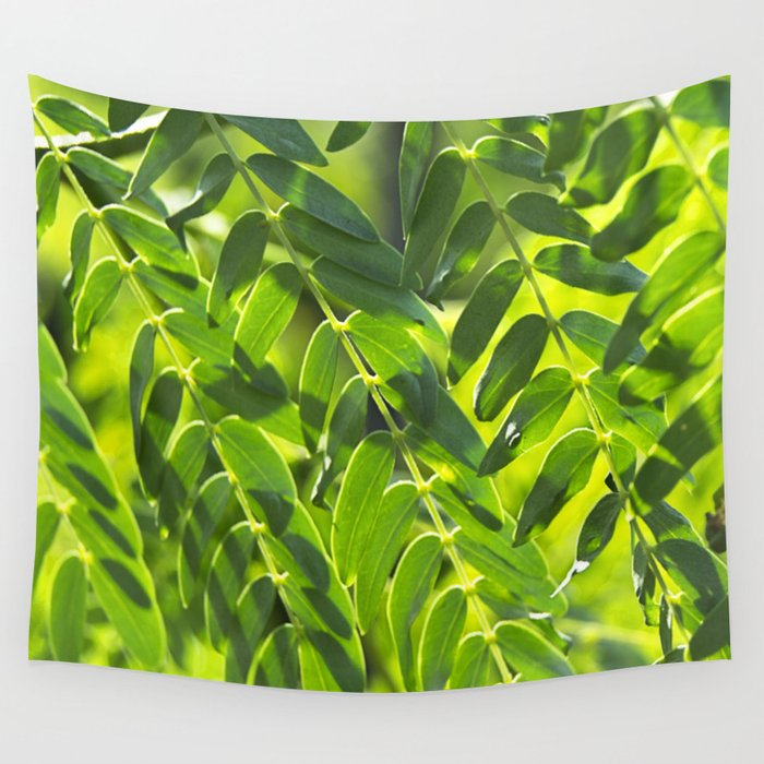 Sunny Leaves Wall Tapestry