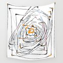 drawing square triangle and circle pattern abstract in orange blue and pink by timla