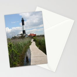 Fire Island Light With Reflection - Long Island Stationery Cards