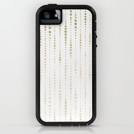NYC Nights Gold Polka Dot Stripes iPhone Case