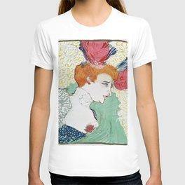 12,000pixel-500dpi - Henri de Toulouse-Lautrec - Bust of Miss. Marcelle Lender - Digital Remaster T-shirt