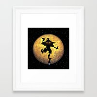 majora Framed Art Prints featuring majora mask by neutrone