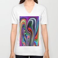 oriental V-neck T-shirts featuring Oriental Vapours by David  Gough
