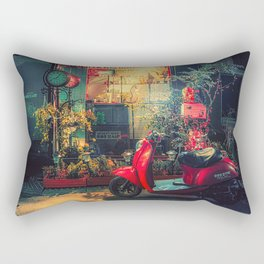 Roman Holiday- Japan Night Photo Audrey Hepburn Rectangular Pillow