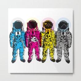 CMYK Spacemen Metal Print