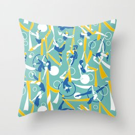 Circus dancers Throw Pillow