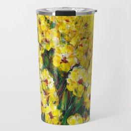 Field of Yellow Flowers Travel Mug