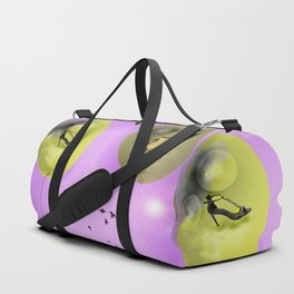 Napping in May with May - shoes stories Duffle Bag