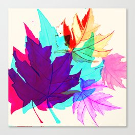 Maple Leaves Falling Canvas Print