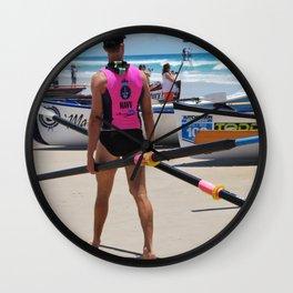 Lifeguard Hut Number 12 Wall Clock