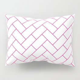 Traditional Herringbone -  Pink Pillow Sham