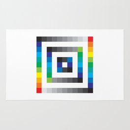 Rainbow Squares Pattern Rug