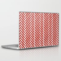 herringbone Laptop & iPad Skins featuring Herringbone Candy by Project M