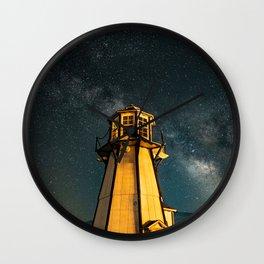 Mountain Light House Two Wall Clock