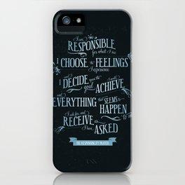 The Responsibility Prayer iPhone Case