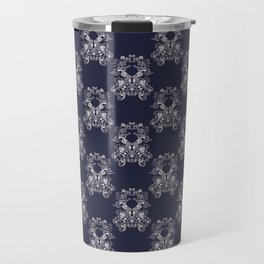 Baroque style floral retro pattern Travel Mug