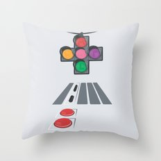 N Street Traffic Light Throw Pillow