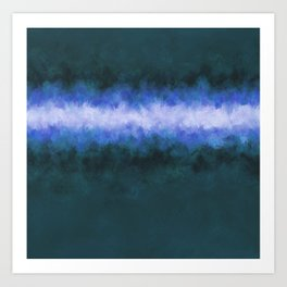 Slate Blue Steel Abstract Art Print