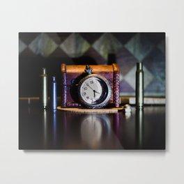Pocket Watch Photography Metal Print