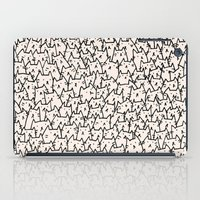 bag iPad Cases featuring A Lot of Cats by Kitten Rain