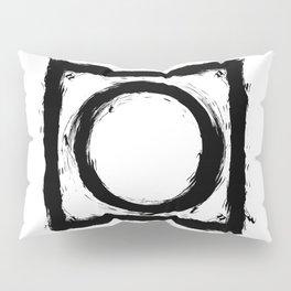 Black and white shapes splatter Pillow Sham