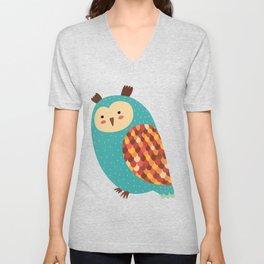 Owl #2 Unisex V-Neck