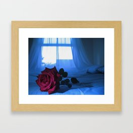 POET'S ROSE Framed Art Print