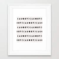 moon phases Framed Art Prints featuring Moon Phases by Andre D