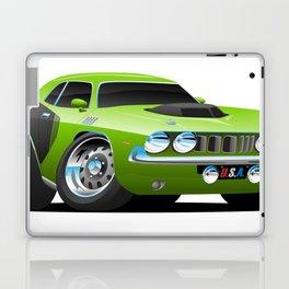 Classic Seventies Style American Muscle Car Cartoon Laptop & iPad Skin