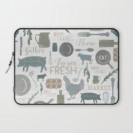Modern Farmhouse // Gather Round & Give Thanks Laptop Sleeve