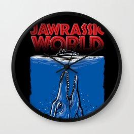 JAWrassic World - Jurassic World / Jaws Mashup Wall Clock
