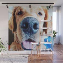 Golden Retriever Leo's Puppy Breath Wall Mural
