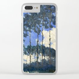 Claude Monet - Poplars on the Epte Clear iPhone Case