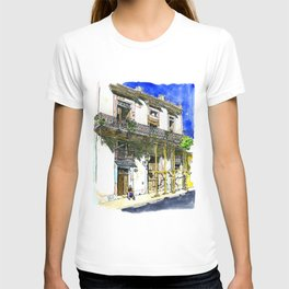 Man Sitting in Front of His House, Habana Vieja, Cuba T-shirt