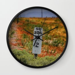 Lander County mile marker along highway 376 in Nevada Wall Clock