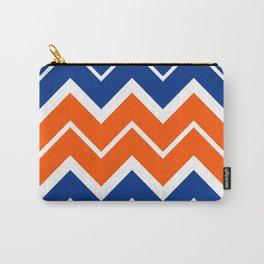 Big Chevron:  Blue + Orange Carry-All Pouch